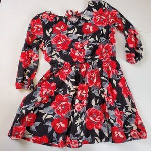 Black Dress with Red Roses S/P 5/6